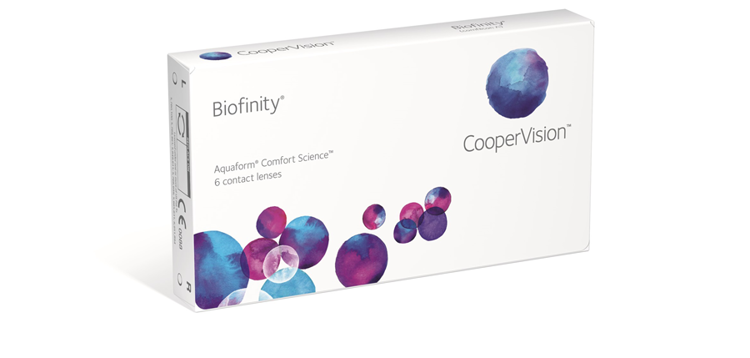 Picture of Biofinity Sphere Monthly Contact Lenses (6 pack)