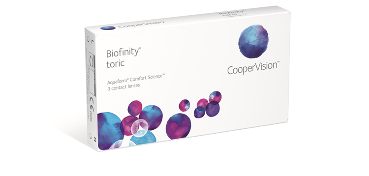 Picture of Biofinity Toric (Pack of 3 Lenses)